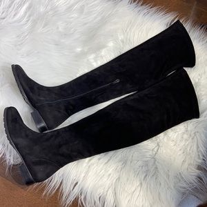 NR Rapisardi Faux Suede Knee High Boots